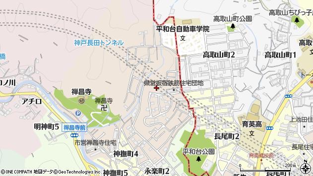 〒654-0001 兵庫県神戸市須磨区禅昌寺町の地図