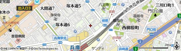 兵庫県神戸市兵庫区羽坂通周辺の地図