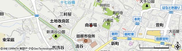 愛知県田原市田原町(南番場)周辺の地図