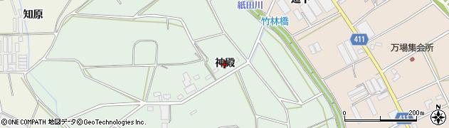 愛知県豊橋市城下町(神殿)周辺の地図