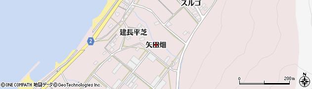 愛知県田原市野田町(矢田畑)周辺の地図