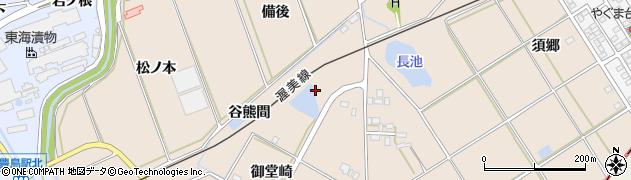 愛知県田原市谷熊町(御堂崎)周辺の地図