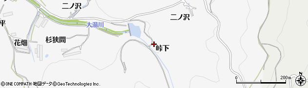 愛知県田原市仁崎町(峠下)周辺の地図