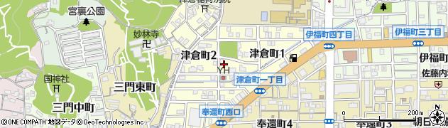 岡山県岡山市北区津倉町周辺の地図