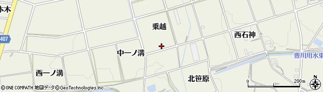 愛知県豊橋市高塚町(乗越)周辺の地図