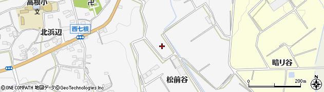 愛知県豊橋市西七根町(松前谷)周辺の地図