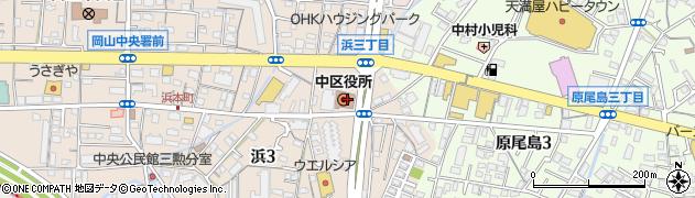 岡山県岡山市中区周辺の地図