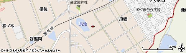愛知県田原市谷熊町(桑原)周辺の地図