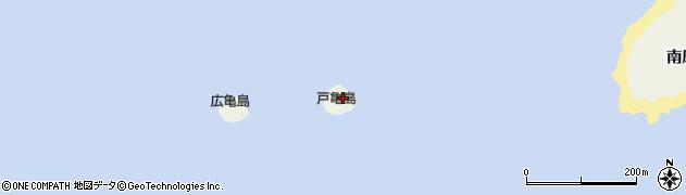 愛知県南知多町(知多郡)篠島(戸亀島)周辺の地図