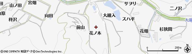 愛知県田原市仁崎町(花ノ木)周辺の地図