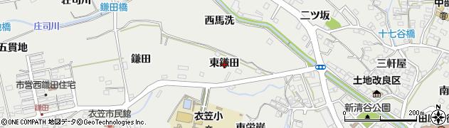 愛知県田原市田原町(東鎌田)周辺の地図