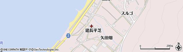 愛知県田原市野田町(建長平芝)周辺の地図