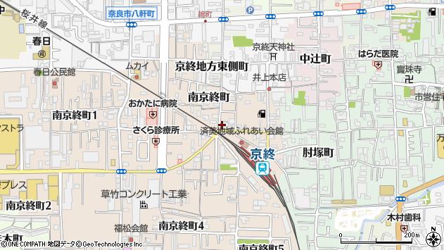 〒630-8141 奈良県奈良市南京終町の地図