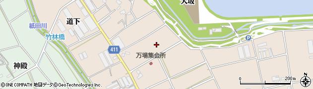 愛知県豊橋市西赤沢町(万場)周辺の地図