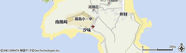 愛知県南知多町(知多郡)篠島(汐味)周辺の地図