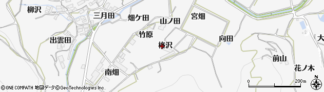 愛知県田原市仁崎町(柊沢)周辺の地図