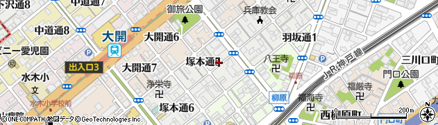 兵庫県神戸市兵庫区塚本通周辺の地図