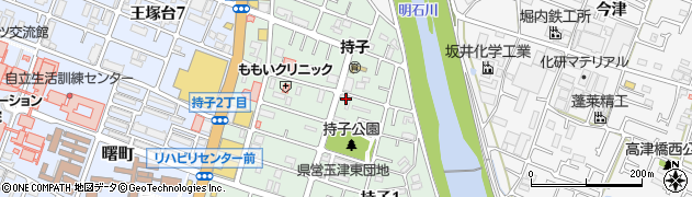 兵庫県神戸市西区持子周辺の地図