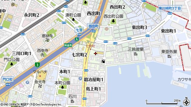 〒652-0831 兵庫県神戸市兵庫区七宮町の地図