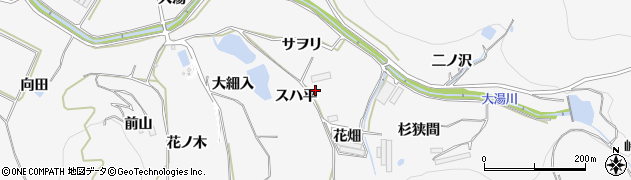 愛知県田原市仁崎町(スハ平)周辺の地図