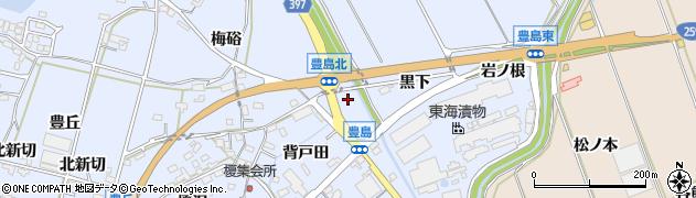 愛知県田原市豊島町(中坪)周辺の地図