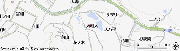 愛知県田原市仁崎町(大細入)周辺の地図