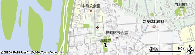 静岡県磐田市田町周辺の地図