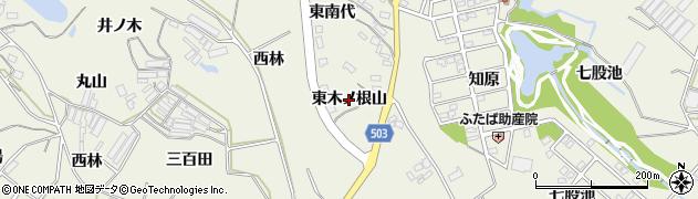 愛知県豊橋市杉山町(東木ノ根山)周辺の地図