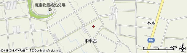 愛知県豊橋市伊古部町(中平古)周辺の地図