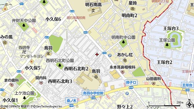 〒673-0018 兵庫県明石市西明石北町の地図