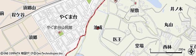 愛知県豊橋市杉山町(池成)周辺の地図