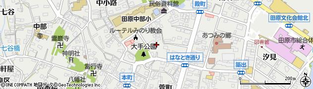 愛知県田原市田原町(殿町)周辺の地図