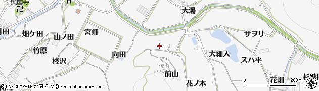 愛知県田原市仁崎町(向田)周辺の地図