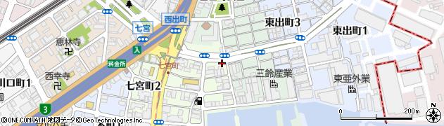 兵庫県神戸市兵庫区川崎町周辺の地図