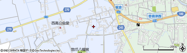 岡山県岡山市北区惣爪周辺の地図