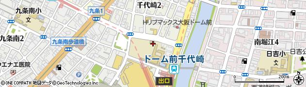 大阪府大阪市西区千代崎周辺の地図