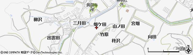 愛知県田原市仁崎町(畑ケ田)周辺の地図