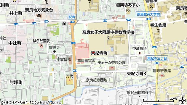 〒630-8305 奈良県奈良市東紀寺町の地図