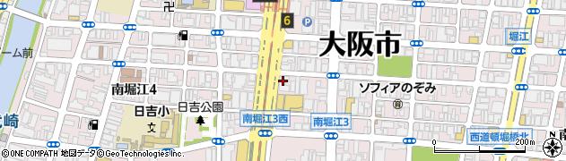 南堀江三洋ハイツ周辺の地図