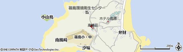 愛知県南知多町(知多郡)篠島(棚橋)周辺の地図