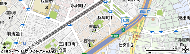 兵庫県神戸市兵庫区兵庫町周辺の地図