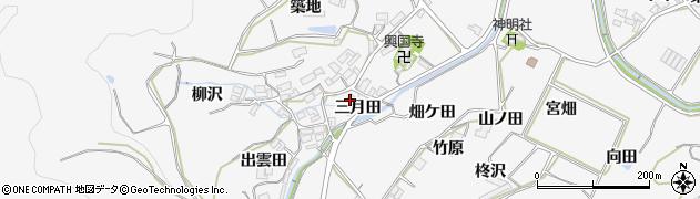 愛知県田原市仁崎町(三月田)周辺の地図