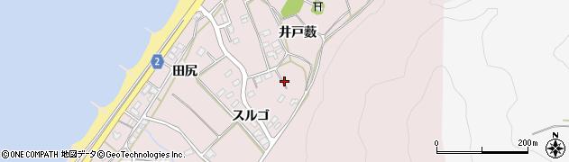 愛知県田原市野田町周辺の地図