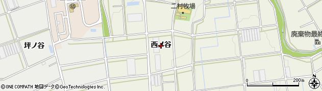 愛知県豊橋市伊古部町(西ノ谷)周辺の地図