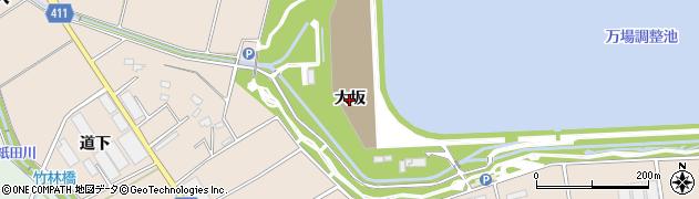 愛知県豊橋市西赤沢町(大坂)周辺の地図