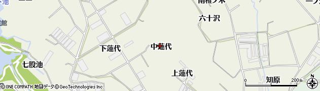 愛知県豊橋市杉山町(中蓮代)周辺の地図