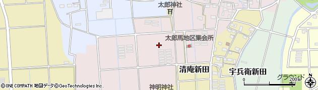 静岡県磐田市太郎馬新田周辺の地図
