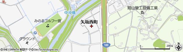 岡山県岡山市北区矢坂西町周辺の地図