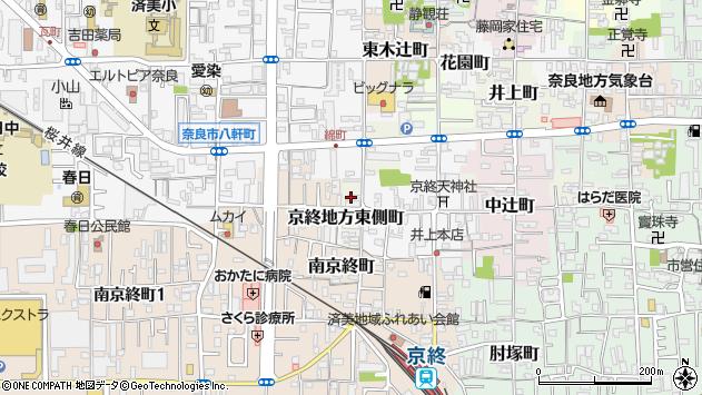 〒630-8324 奈良県奈良市京終地方西側町の地図