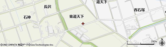 愛知県豊橋市高塚町(東道天下)周辺の地図